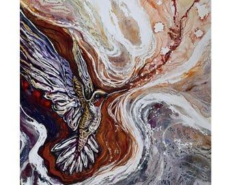 Arise (3), Original mixed media painting