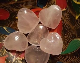 Rose Quartz Heart, Crystal of Love