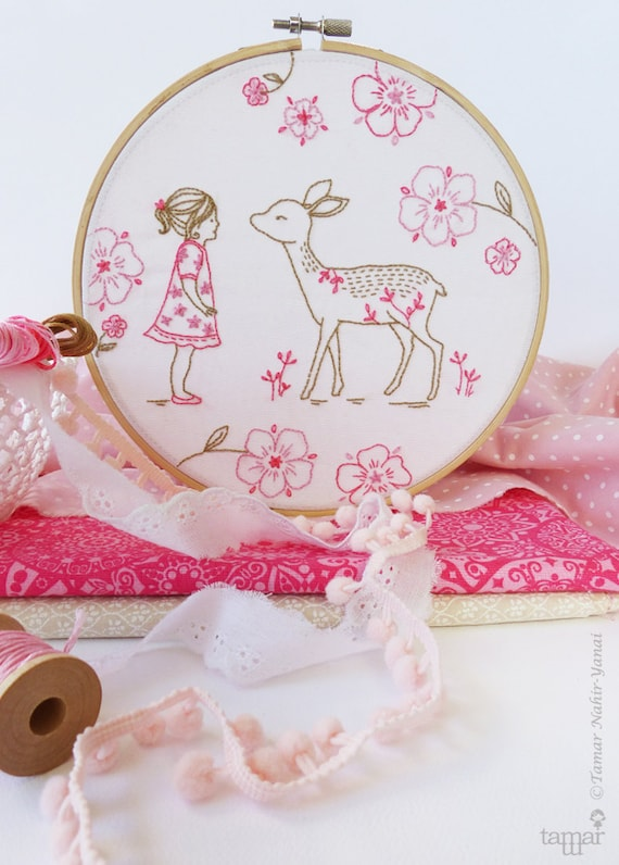 Bambi girl deer baby embroidery deer girl christmas gift like this item solutioingenieria Choice Image
