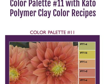 Kato Polyclay Polymer Clay Color Mixing Recipes for Color Palette #11