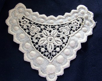 Antique Embroidered Store Stock Lace Style Motif Embellishment Wedding Doll Costumer