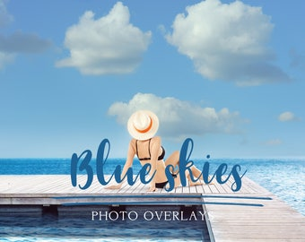 Blue sky photo overlays, sky overlay, sky overlays, photoshop overlay, cloud overlay