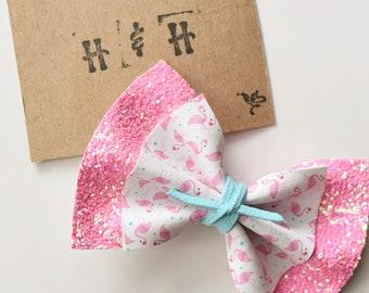 Flamingo & Neon Pink Bow
