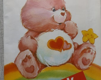 Love-A-Lot Care Bear Stuffed Toy Vintage 80s Butterick Sewing Pattern 6232 Complete All 22 Pieces