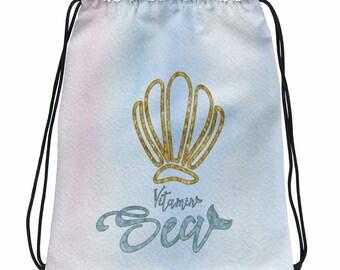 Vitamin Sea Drawstring bag
