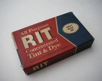 Vintage Rit Box with Dye Advertising prop