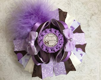 Lavender and Brown Big Boutique Bow