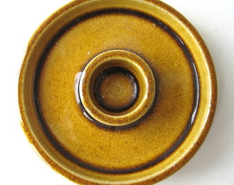 HAK Nils Kähler ceramic candlestick holder Golden Amber Danish Modern