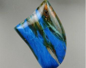 Peruvian Electric Blue Opal Cabochon, Electric Blue Opal Cabochon, Peruvian Blue Opal Cabochon, Pendant Cab, Gift Cab, C1733, 49erMinerals