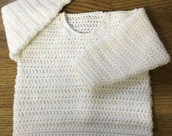 PDF Instant Download Baby Crochet Sweater Pattern in DK. Sizes Birth to 6 Years. (1023)