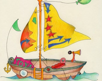 Personalized Sailboat