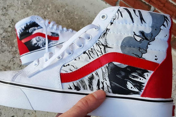 custom vans shoes sk8 hi