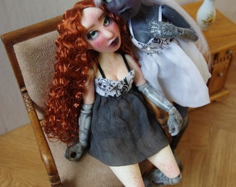"Two BJD art doll, ""Victorian puppet"" fullset"