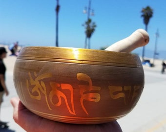 Singing bowl 7 inch. Made in India.