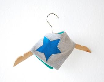 Scarf - blue-gray star