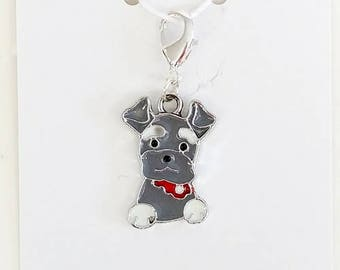 Scottie Dog Progress Keeper, Knitting Marker, Crochet Stitch Marker, Removable Stitch marker, Zipper Pull for your Project Bag