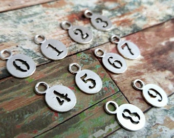 Number Charms Number Pendants Silver Number Charms Silver Charms Number Tags Number Charms 0 to 9