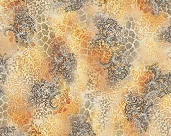 Shalimar Giraffe Paisley 24188x Cotton Fabric by Quilting Treasures! [Choose Your Cut Size]