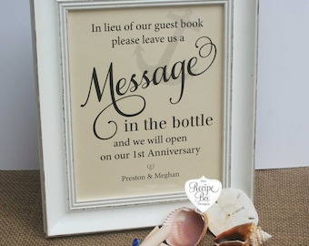 Wedding Signs Message In A Bottle Beach Wedding Signs leave