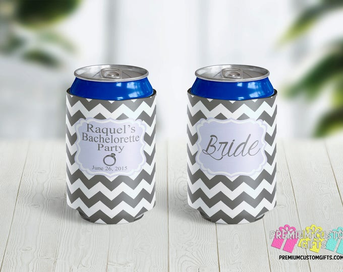 Custom Bachelorette Can Coolers - Personalized Can Coolers - Bachelor Can Cooler - Custom Coolies -  Custom Party Favors - Can Coolers