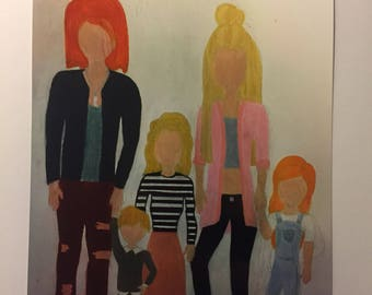 Harry Potter Bill and Fleur Weasley and their children Louis, Victiore, ans Dominique modern dresing next generation