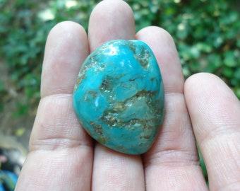 Arizona Turquoise Mountain 11.34 Gram Gemstone Rough Specimen Stabilized Natural Color High Quality Cabochon Pendant Wire Wrap Piece
