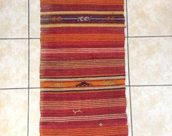 brown rug, handmade rug,  specially patterned rug