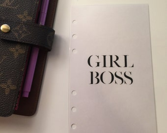 Girl Boss Planner Insert, A5 or Personal