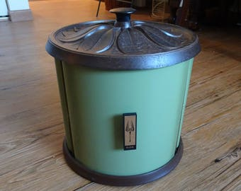 Vintage Beauty Ware Turntable Canister Set Classic Avocado Green | Retro Canisters | 1960's Kitchen | Vintage Avocado | Kitchen Storage
