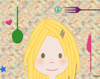 Girls' Placemat-Alice: Perfect for Travel!