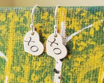 Hugs and Kisses Earrings-XO Errings-Best Friend Earrings-Best Friend Gift-Love Earrings-Sterling Silver