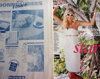 Sewing pattern - dress CORSET for woman - may 1996