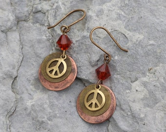 Peace Be With You Earrings - 2 color choices