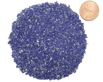 Crushed, Grade A, Lapis Lazuli, Stone Inlay, Medium, 1/2 Ounce