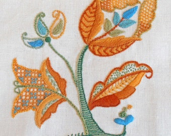 Crewel Embroidery Kit - AUTUMN GOLD