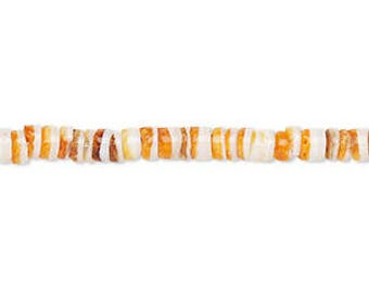 "Spiney Oyster Shells, Heishi Beads, Orange Shell Beads, 4x1mm to 4x3mm, 16"" Strand, D1037"