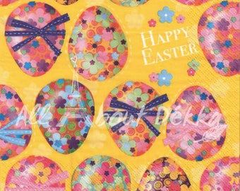 Decoupage Napkins Set of 3 - Easter, Spring, Egg, Chick, DAFFODILS, lamb, Easter egg, Collage Napkins, Serviettes, Scrapbooking, Mixed Media