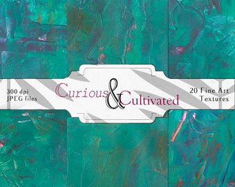 20 Turquoise Effusion Acrylic Paint Photoshop Textures