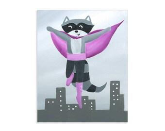 Super Hero Raccoon - Animal Superheroes Theme