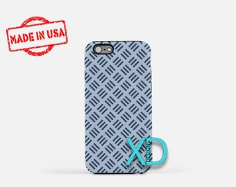 Navy Stitch Phone Case, Navy Stitch iPhone Case, Weave iPhone 7 Case, Blue, Weave iPhone 8 Case, Navy Stitch Tough Case, Clear Case, Woven