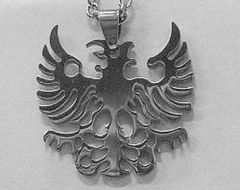 """Eagle in Stainless Steel with 24"""" Stainless Steel Chain"""
