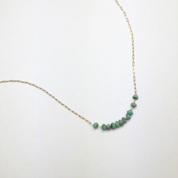 Magic Number Necklace | Floating Turquoise