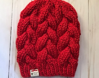 READY TO SHIP Cable Knit Beanie
