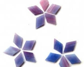 Stained Glass Hand-Cut Diamond - Very Berry- Small 18pcs (approx. 15g)