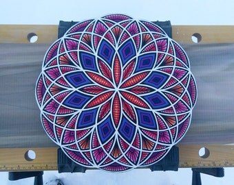 Seed of Life Torus -  *Acrylic Painting* - Sacred Geometry - I Am Electric - WALL ART