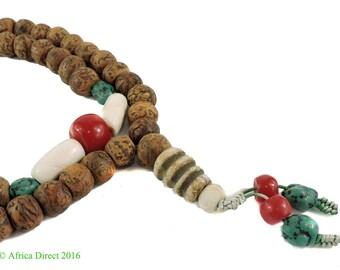 Tibetan Prayer Mala Necklace Bodhi Seed Beads 48 Inch 105608