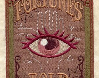 Fortunes Told Embroidered Flour Sack Hand/Dish Towel