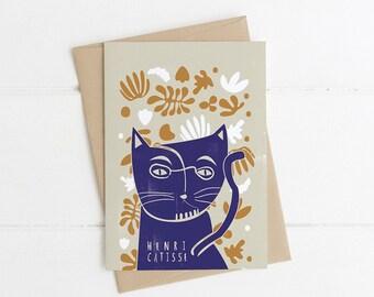 Henri Catisse Cat Card