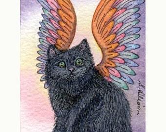 Black cat 8x10 print - Butter wouldn't melt...