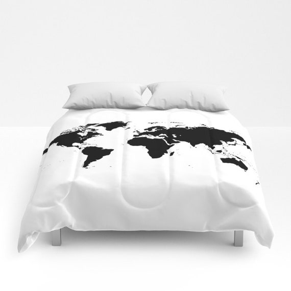World map comforter decorative bedding world map bedding gumiabroncs Images